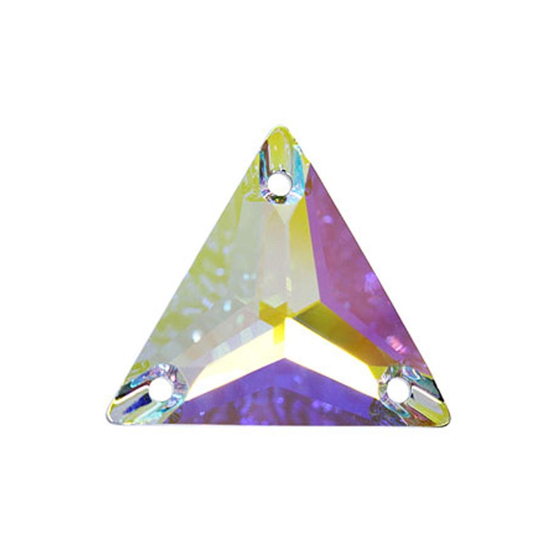 Swarovski de cusut triunghi crystal ab 22mm
