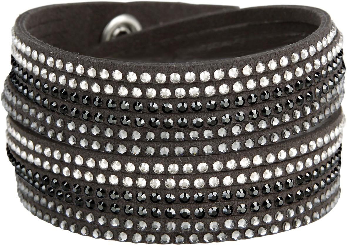 Bratara cu cristale Swarovski - neagra