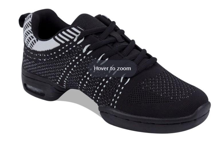 8002 Pantof Antrenor din Material Textil Negru/Alb