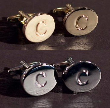 Butoni aurii cu logo - rotunzi