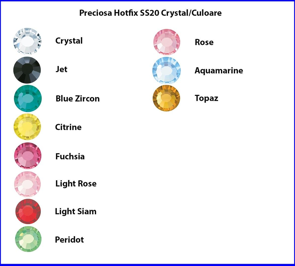 Preciosa Hotfix SS20 Culoare/Crystal