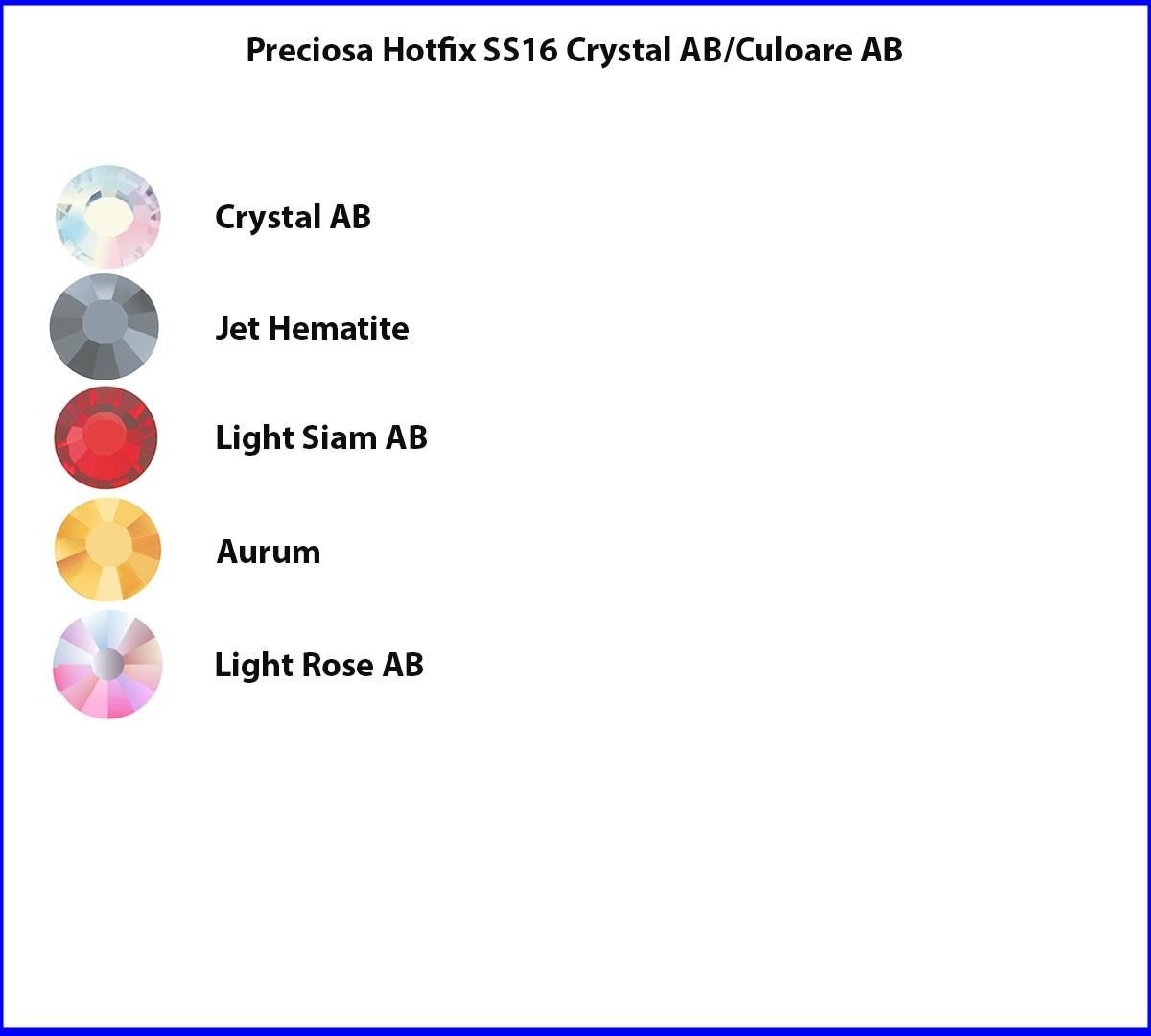 Preciosa Hotfix SS16 Culoare AB/Crystal AB