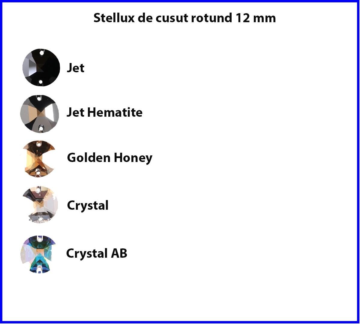 Stellux de cusut Rotund 12mm