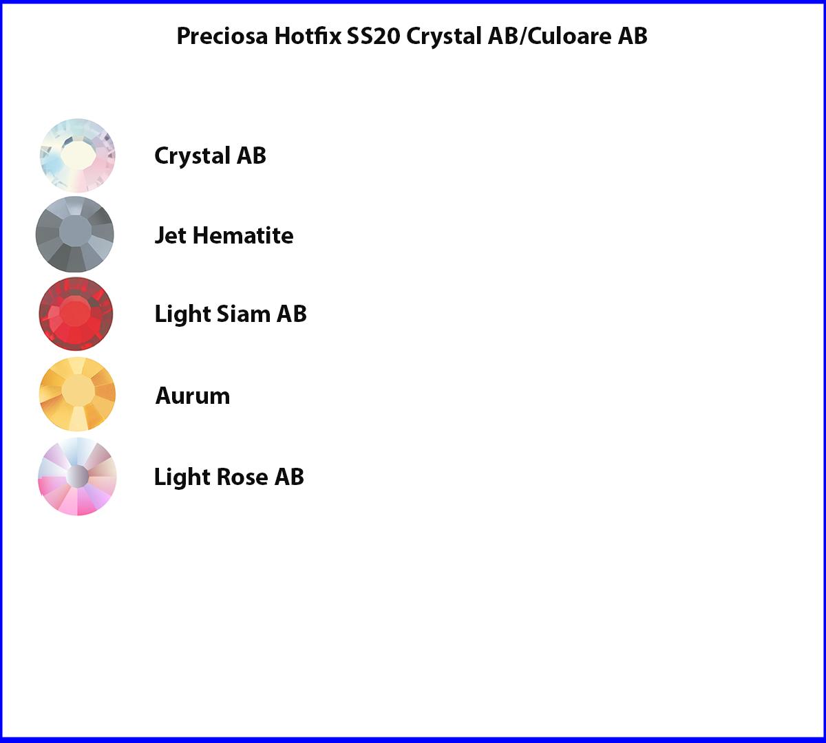 Preciosa Hotfix SS20 Culoare AB/Crystal AB