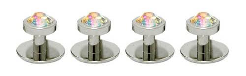 Butoni camasa cristal AB-argintiu