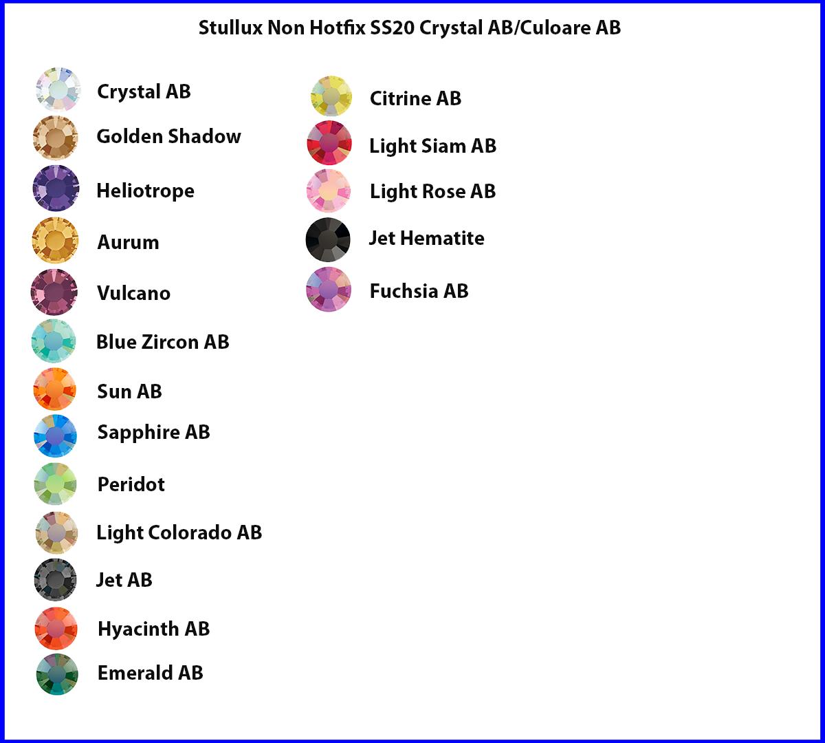Stellux Non Hotfix SS20 Crystal AB/Culoare AB
