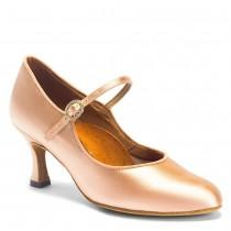 ICS RoundToe Saten Culoarea Pielii International Dance Shoes