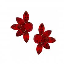 Cercei Swarovski Mini Lotus Scarlet
